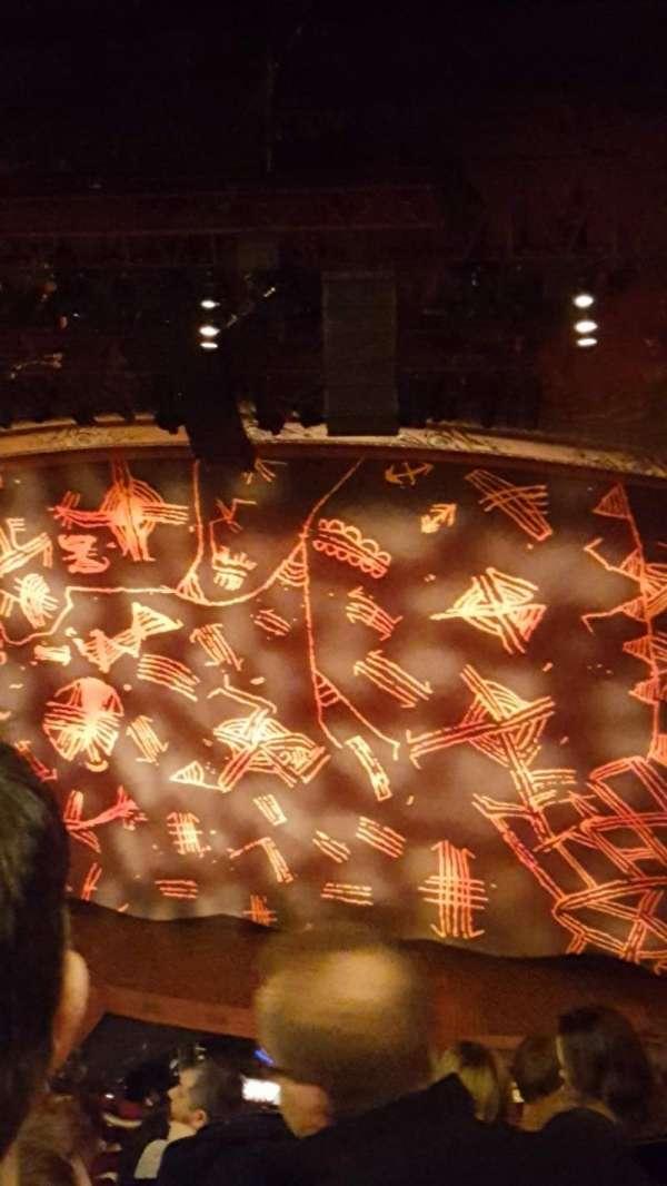 Lyceum Theatre (West End), secção: Grand Circle, fila: G, lugar: 09