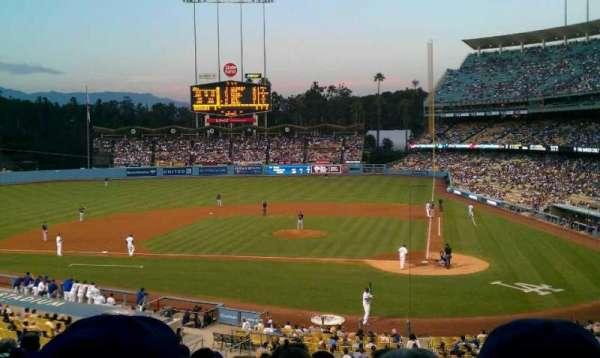 Dodger Stadium, secção: 119LG, fila: J, lugar: 1