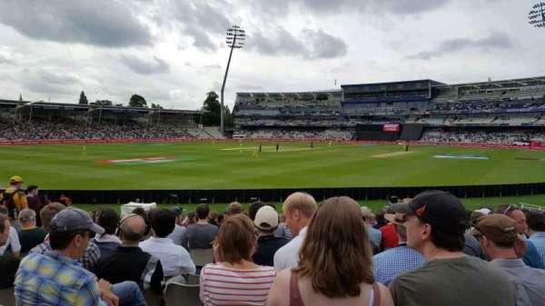 Edgbaston Cricket Ground, secção: R E S Wyatt Stand, fila: S, lugar: 15