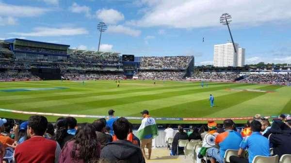 Edgbaston Cricket Ground, secção: Stanley Barnes Stand Block 20, fila: L, lugar: 1