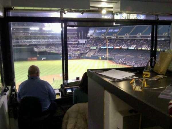 Oakland Coliseum, secção: Press Box