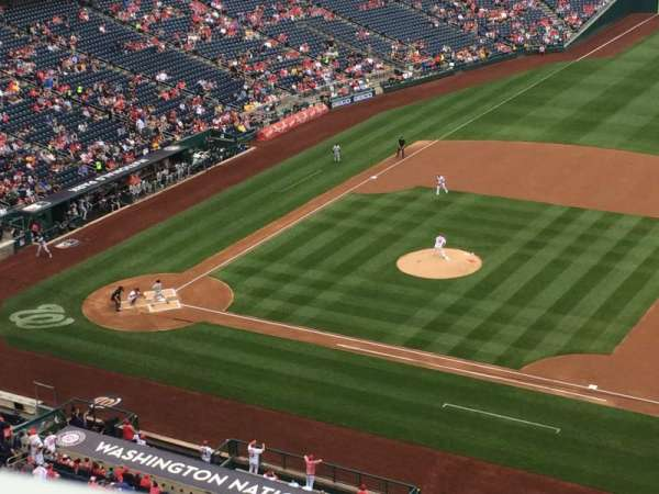 Nationals Park, secção: 420, fila: A, lugar: 10