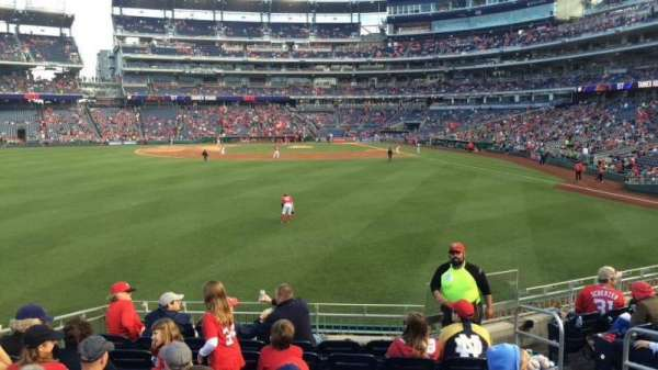 Nationals Park, secção: 103, fila: J, lugar: 5