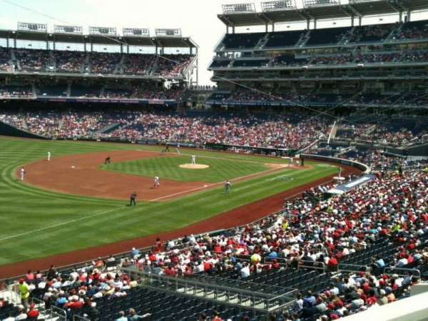 Nationals Park, secção: 204, fila: A, lugar: 4