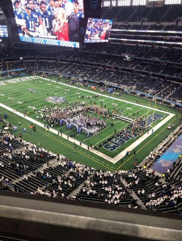 AT&T stadium , secção: 405, fila: 1, lugar: 7