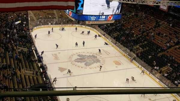 Scotiabank Arena, secção: Ford Fan Deck, fila: 2, lugar: 1