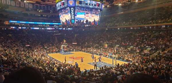 Madison Square Garden, secção: 110, fila: 18, lugar: 19