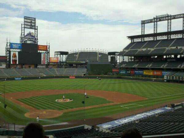 Coors Field, secção: Press Box, fila: 2, lugar: 2