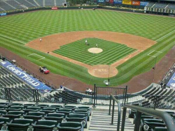 Coors Field, secção: L332, fila: 6, lugar: 1