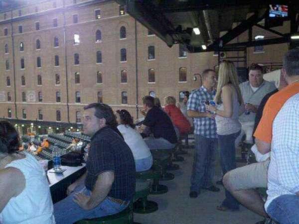 Oriole Park at Camden Yards, secção: Miller Lite Flite Deck