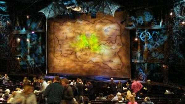 Gershwin Theatre, secção: Orchestra R, fila: U, lugar: 20
