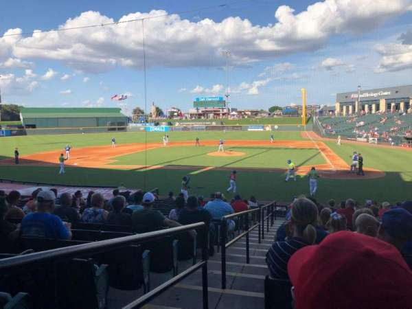 Dell Diamond, secção: 117, fila: 19, lugar: 1