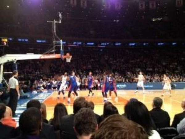 Madison Square Garden, secção: 10, fila: 3