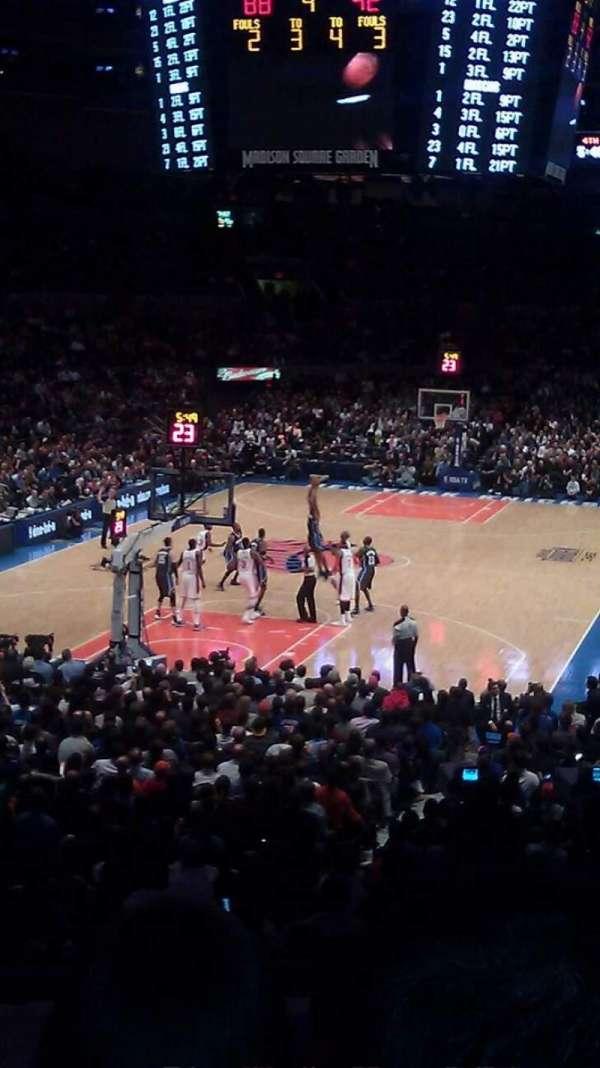 Madison Square Garden, secção: 114, fila: F, lugar: 13