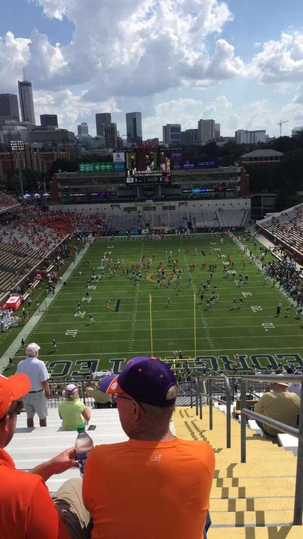 Bobby Dodd Stadium, secção: 216, fila: 22, lugar: 27