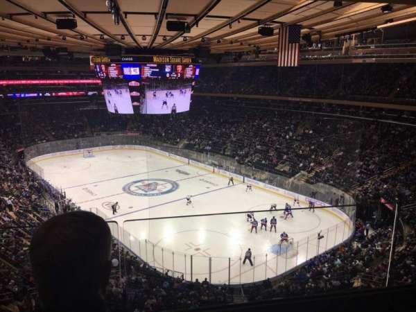 Madison Square Garden, secção: 414, fila: 2, lugar: 8