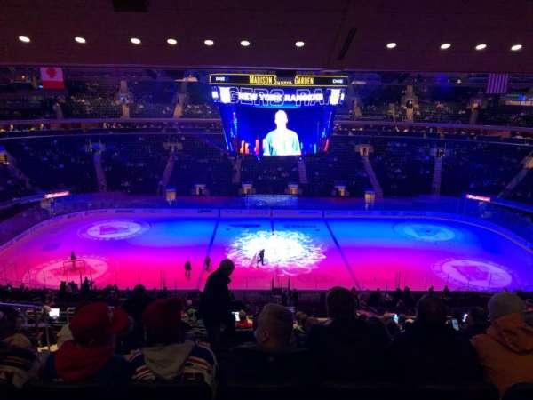 Madison Square Garden, secção: 211, fila: 14, lugar: 7