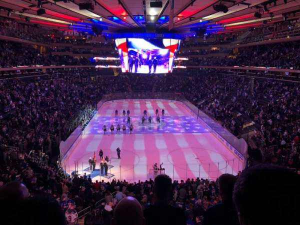 Madison Square Garden, secção: 417, fila: 4, lugar: 20