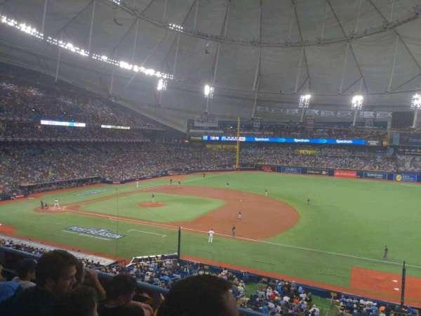 Tropicana Field, secção: 216, fila: D, lugar: 13