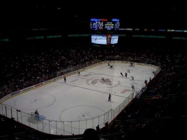 Gila River Arena, secção: 205, fila: C, lugar: 9