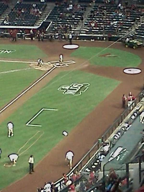 Chase Field, secção: 214, fila: 1, lugar: 6