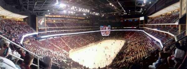 Gila River Arena, secção: 205, fila: E, lugar: 15