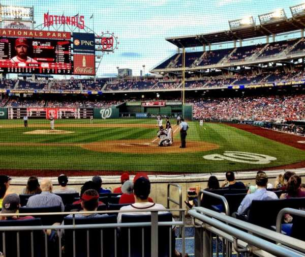 Nationals Park, secção: Presidents Club A, fila: F, lugar: 2
