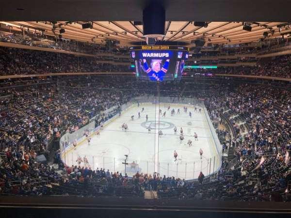 Madison Square Garden, secção: 218, fila: 4, lugar: 5