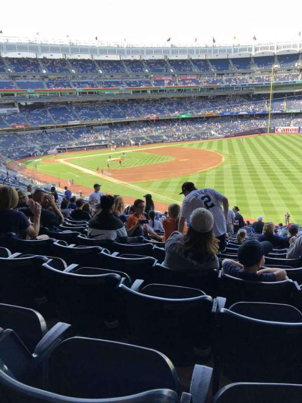 Yankee stadium, secção: 210, fila: 19, lugar: 4
