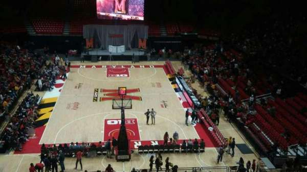 Xfinity Center (Maryland), secção: 121, fila: 21, lugar: 17