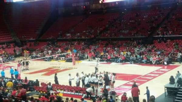 Xfinity Center (Maryland), secção: 105, fila: 8, lugar: 20