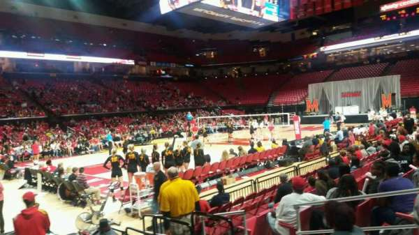 Xfinity Center (Maryland), secção: 125, fila: 3, lugar: 5
