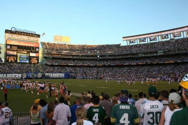 San Diego Stadium, secção: F13, fila: 12, lugar: 2