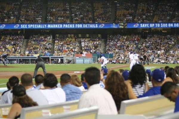 Dodger Stadium, secção: 43FD, fila: A, lugar: 4