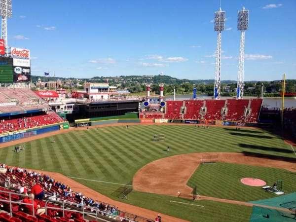 Great American Ball Park, secção: 418, fila: M, lugar: 1