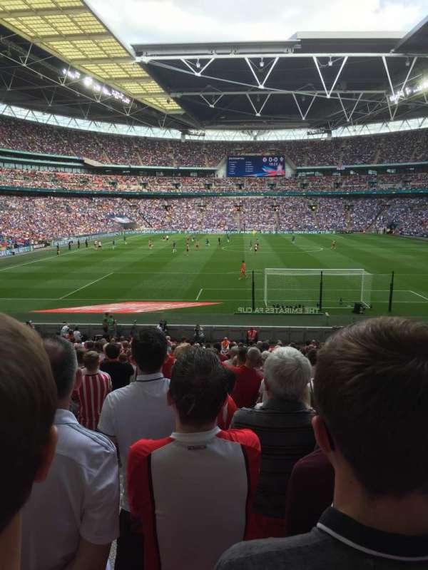 Wembley Stadium, secção: Block 134, fila: 27, lugar: 12