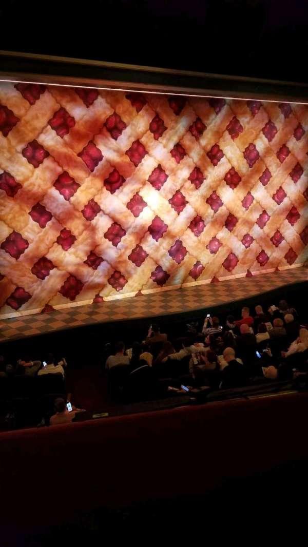 Brooks Atkinson Theatre, secção: Front Mezzanine L, fila: A, lugar: 9