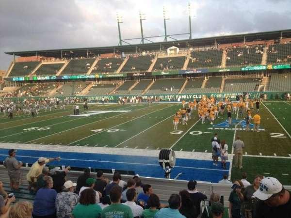 Yulman Stadium, secção: 122, fila: N, lugar: 4