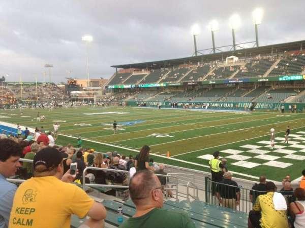 Yulman Stadium, secção: 125, fila: P, lugar: 14