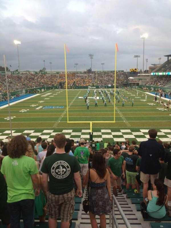 Yulman Stadium, secção: 128, fila: DD, lugar: 1