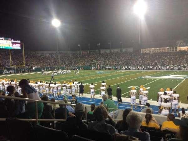 Yulman Stadium, secção: 106, fila: I, lugar: 16