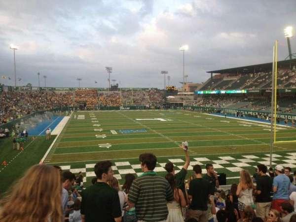 Yulman Stadium, secção: 127, fila: X, lugar: 15