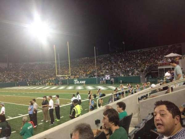 Yulman Stadium, secção: 108, fila: D, lugar: 9