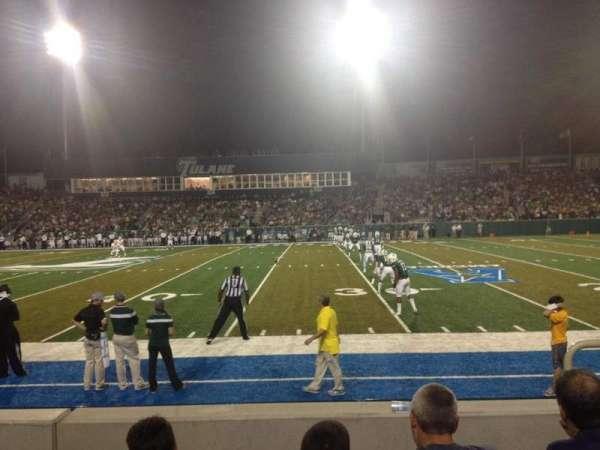 Yulman Stadium, secção: 107, fila: D, lugar: 3