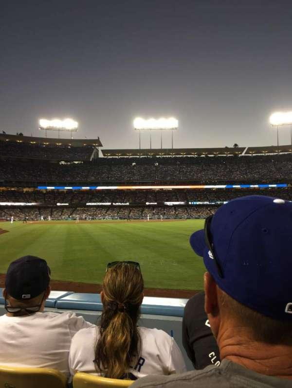 Dodger Stadium, secção: 52fd, fila: B, lugar: 3