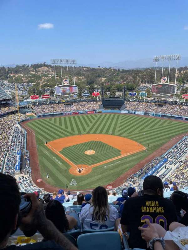 Dodger Stadium, secção: 4TD, fila: O, lugar: 8
