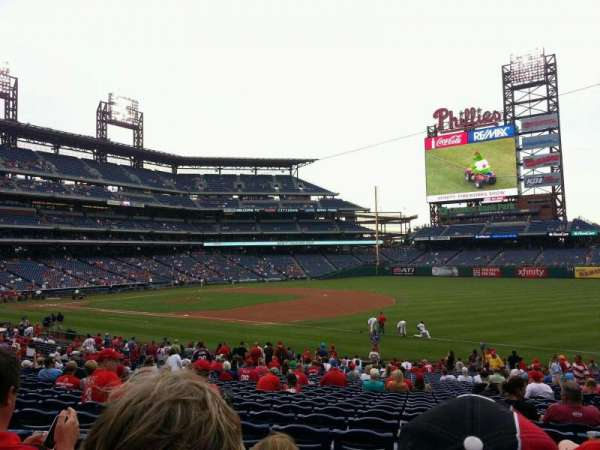 Citizens Bank Park, secção: 112, fila: 30, lugar: 6
