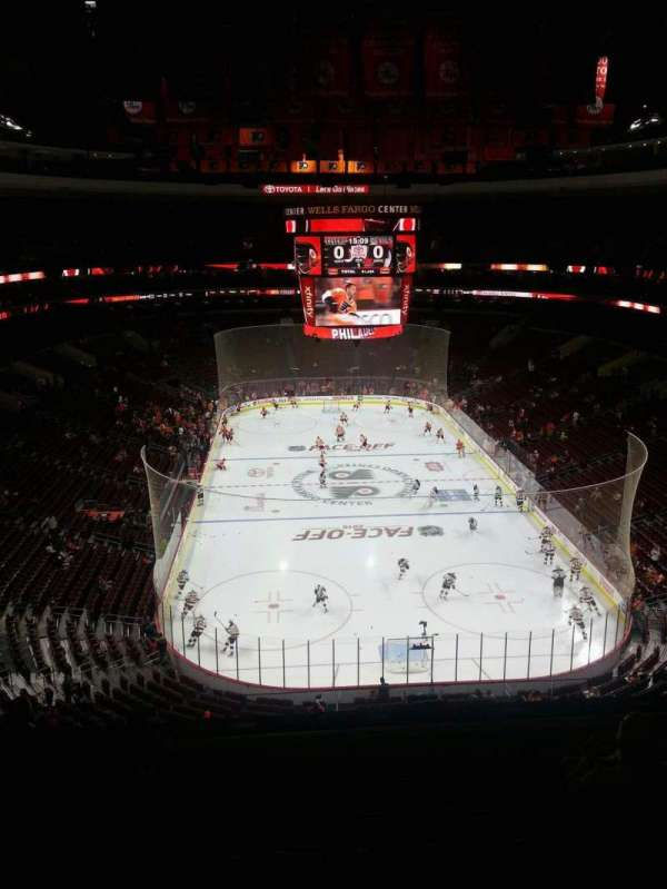 Wells Fargo Center, secção: 207, fila: 7, lugar: 6