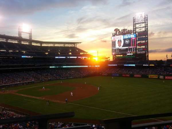 Citizens Bank Park, secção: 210, fila: 1, lugar: 7