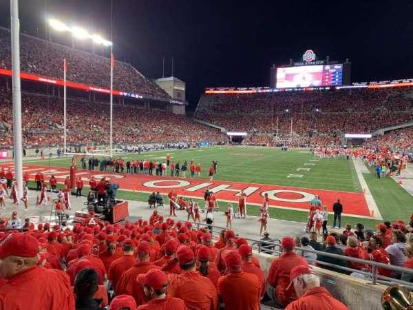 Ohio Stadium, secção: 7AA, fila: 11, lugar: 8